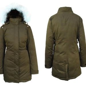 Spire by Galaxy Jackets & Coats - NWT Olive Heavy-Weight Parka W/ Faux Fur Hood